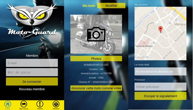 Moto Guard Premier réseau social pour les motards. Application Moto Guard Android et Iphone.